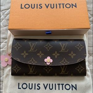 LV Emilie Bloom Wallet Authentic New NWT
